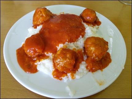 Albóndigas con arroz - Arzúa