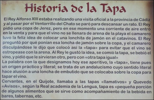Historia de Tapas