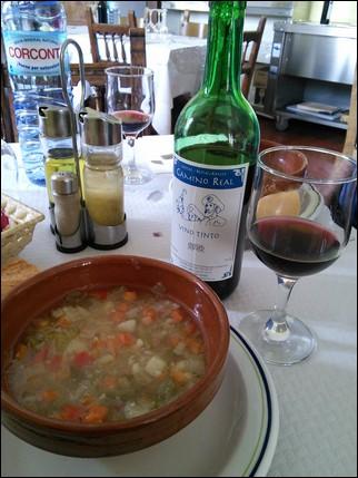 Sopa de verduras - Calzadilla de la Cueza