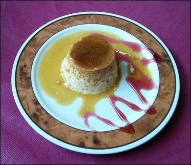 Postre Flan de queso -  Villanúa
