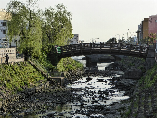 Bridge across the canal that runs through Jeju City