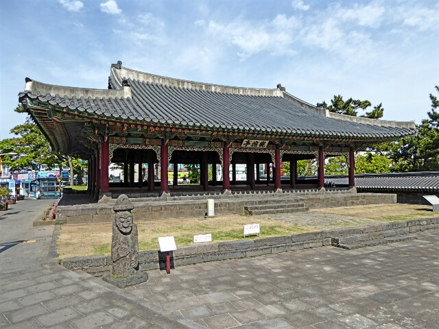 Gwandeokjeong Pavilion, built in 1448 is one of the oldest structures on Jeju