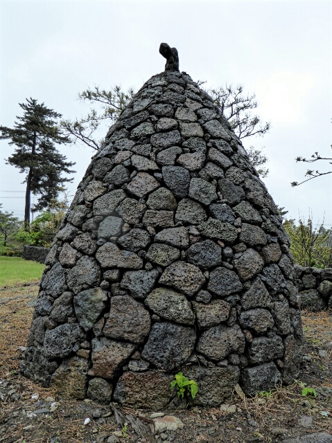 Saw a few of these lava rock mounds