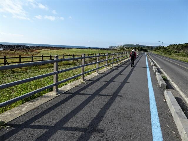 We followed the bike path that runs around Jeju