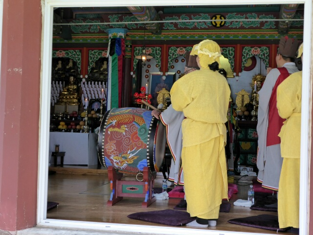 We could hear the chanting of this Buddhist Ceremony from afar