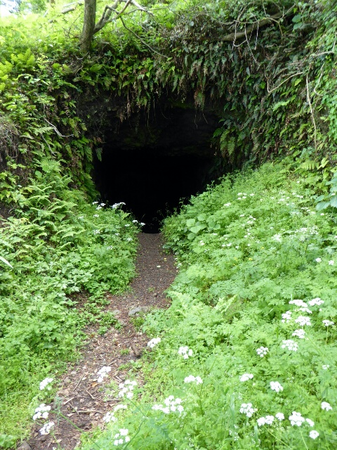 Near the top the mountain is riddled with caves, relics of Japanese army war