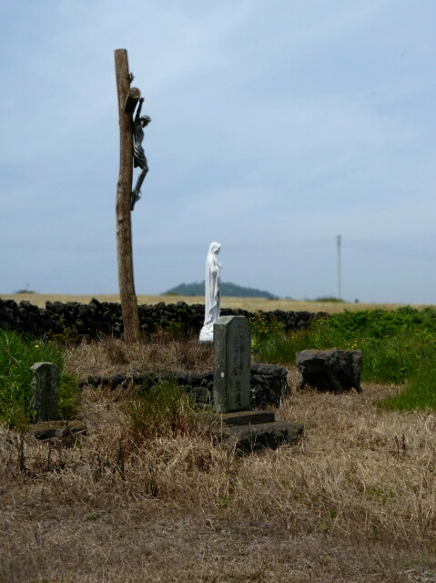 Small Christian Cemetery in the fields