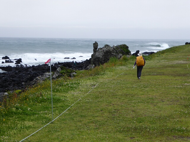 Path along the cliffs