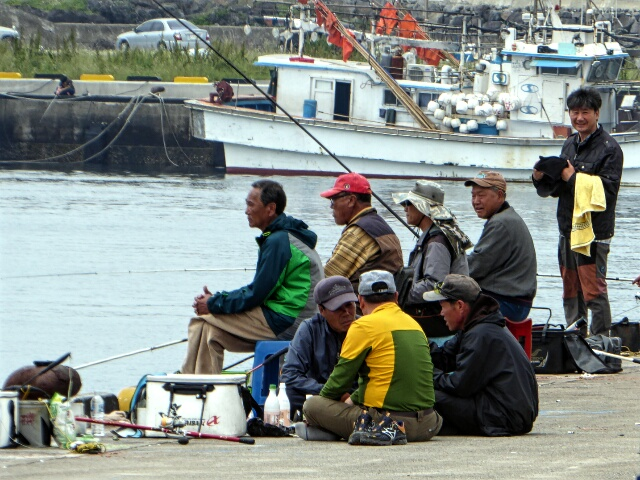 Fishing is a popular pastime along this coast