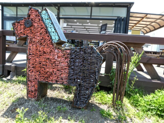 Ganse - symbol of Jeju Olle - made of recycled plastic