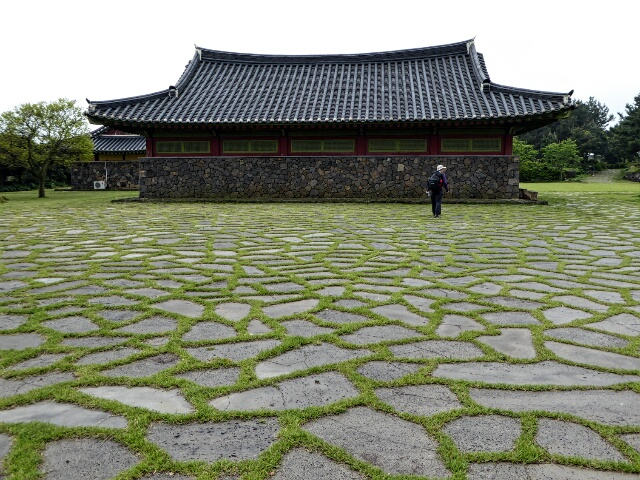 Temple at the Wedding Pond where Jeju's three founding demi-gods married three princesses
