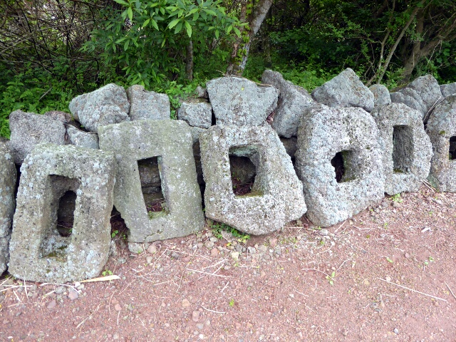 Stones used for foot placement in traditional toilets