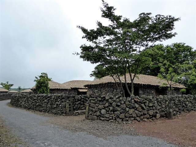 Traditional villages had high stone walls and ...