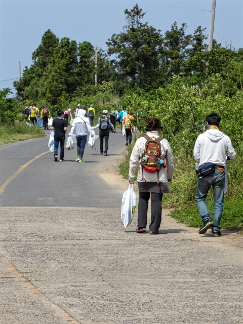 Rubbish collectors on the road