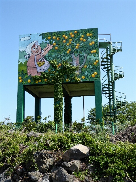 Every water tank is painted to reflect the local activities