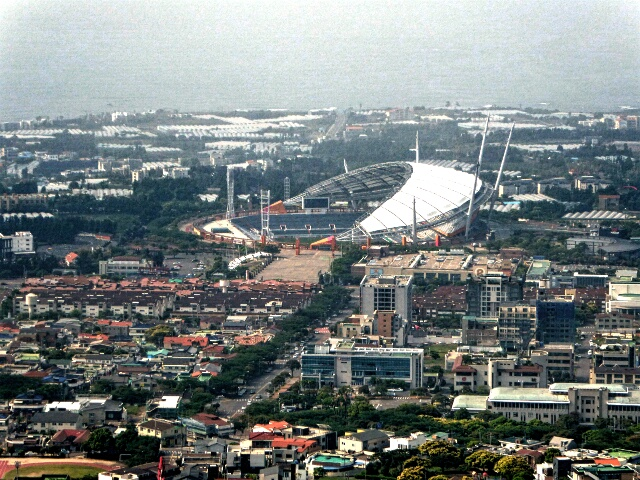 7.1 starts at the World Cup Stadium and passes through the built up area initially