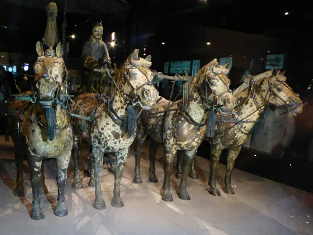 The Emperor's bronze carriage ready to take him wherever he wants to go
