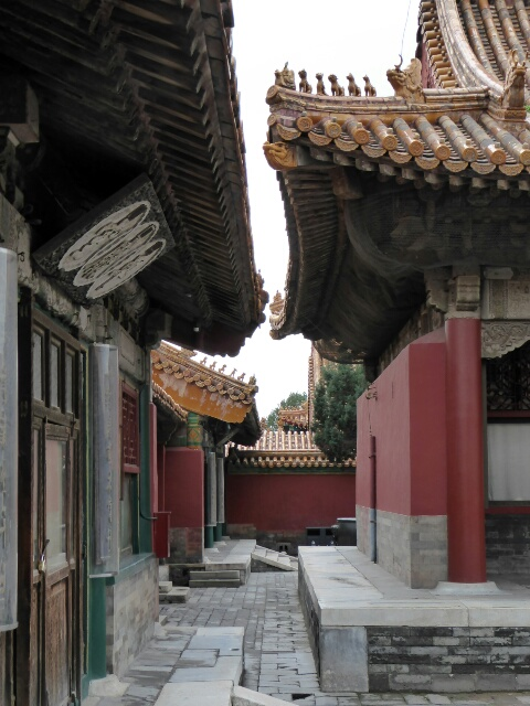 A quiet courtyard in the Forbidden City