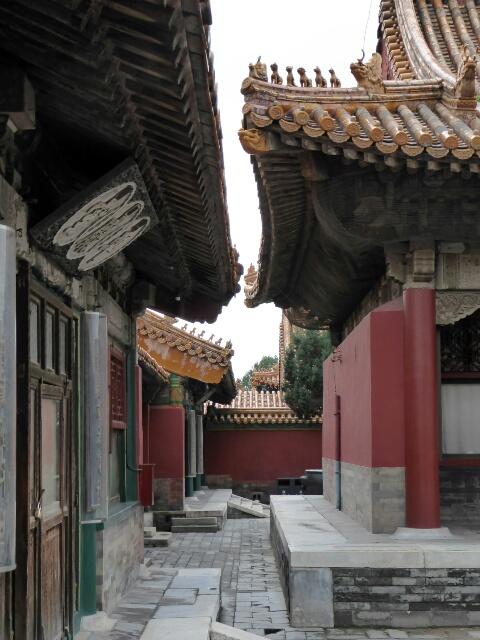 A quiet courtyard in the Forbidden City