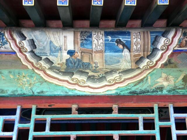 One of 14,000 paintings on the 700 meter long covered walkway