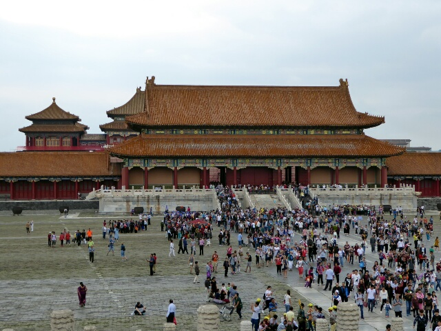 No getting around it; there are crowds of people at the Forbidden City!