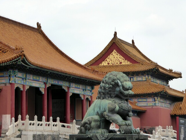Guardian Lion inside the Forbidden City