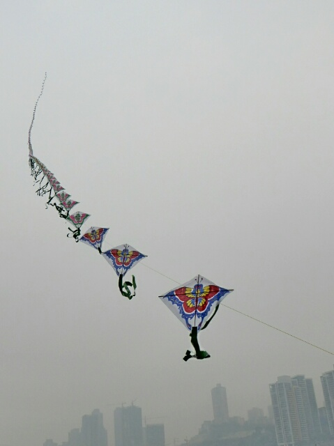 Kites flying over Chongqing
