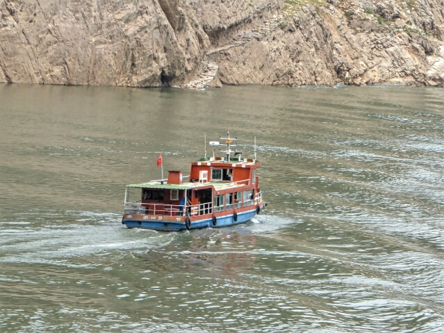 Public ferry across the river