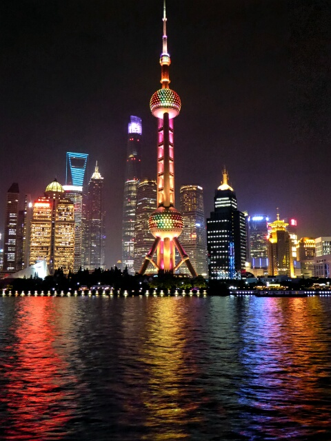 Pudong from the Huangpo River at night