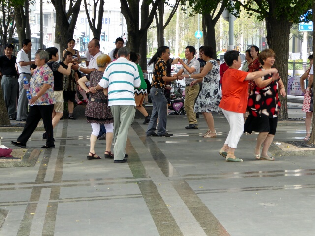 Street dancing in Shanghai