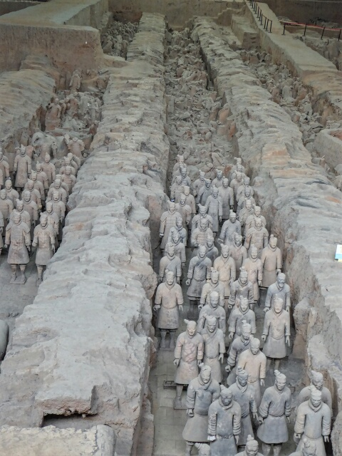 Over 7000 Warriors still protect the tomb of China's first Emperor (210BC)