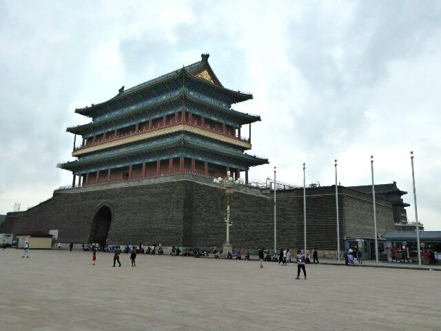 Tiananmen Square is one of the world's largest - this is an entry gate