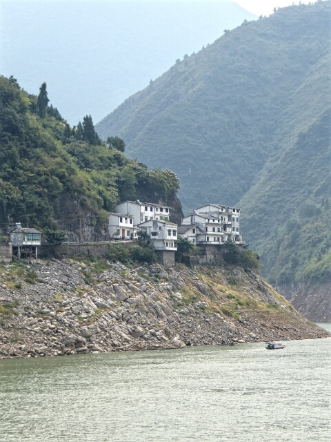 In winter, water will rise to the level of this village