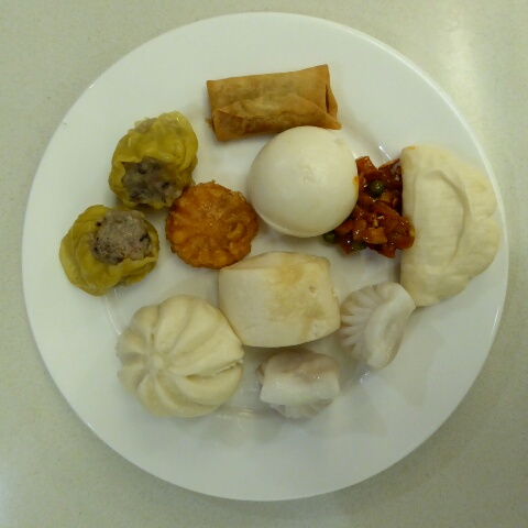 A selection of the famous and delicious Xi'an dumplings, best we've ever tasted