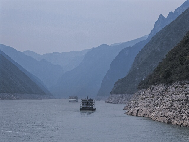 Approaching Xiling Gorge on the Yangtze