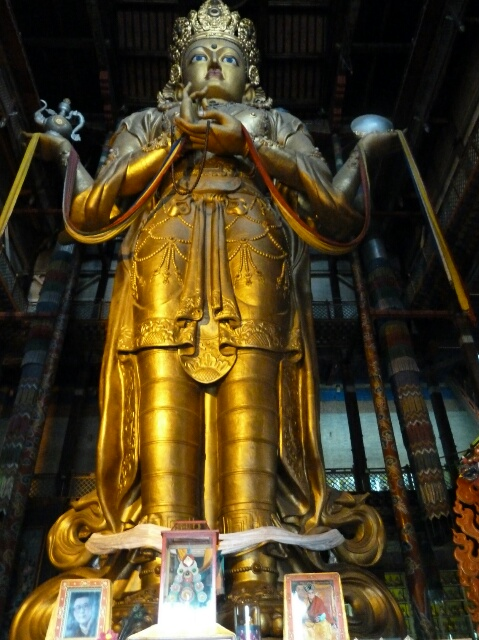 ... Avalokiteśvara, at 26.5 meters high it's the world's tallest indoor statue