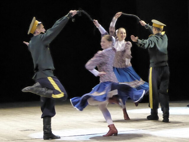 Cossacks dancing at the Ulan-Ude Cultural Show