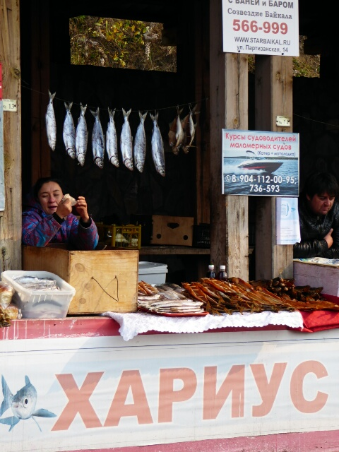 ... the Lake Baikal fish market