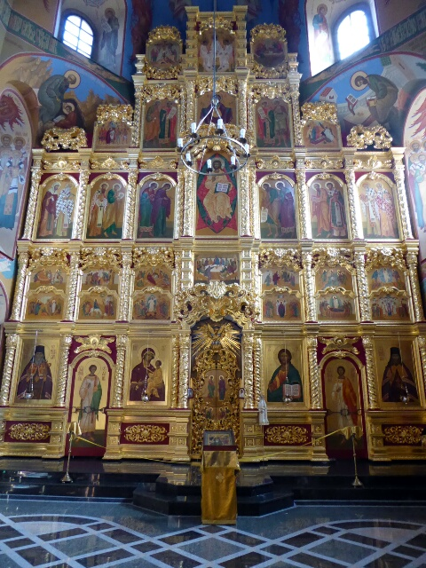 Inside Irkutsk Cathedral - a big revival of Russian Orthodox in recent years