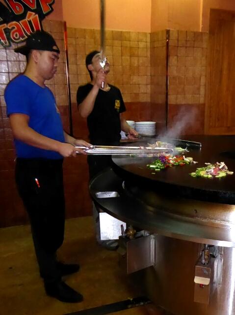 Mongolian BBQ - in Mongolia!
