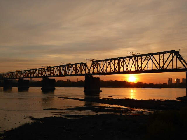 Novosibirsk grew up around the Trans-Siberian bridge across the Ob River