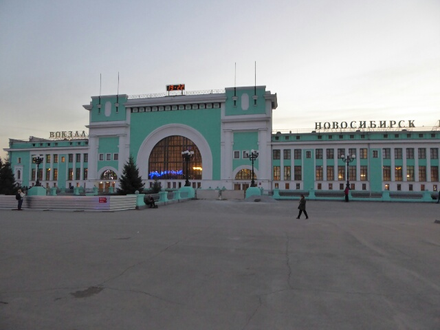 Novosibirsk Railway Station was built to resemble a train engine