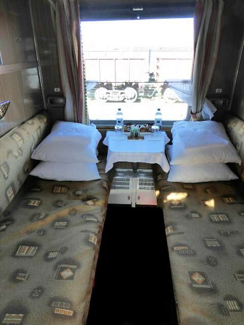 Our compartment on the train