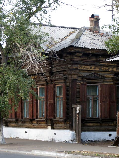 Traditional wooden house of Siberia - Larch timber never rots