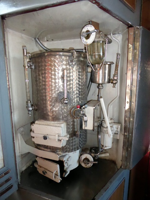 24/7 hot water provided by this coal fired boiler in our wagon