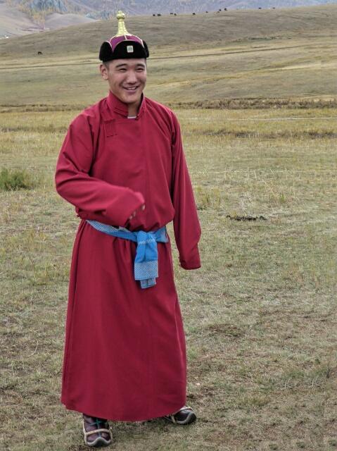 Mongolian wrestler ...