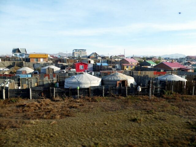 Yurt city on the outskirts of Ulanbatar