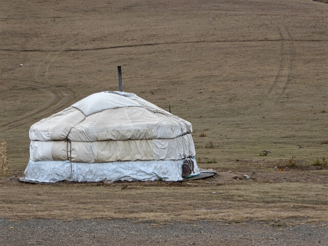 Yurt used by traditional Mongolian nomads