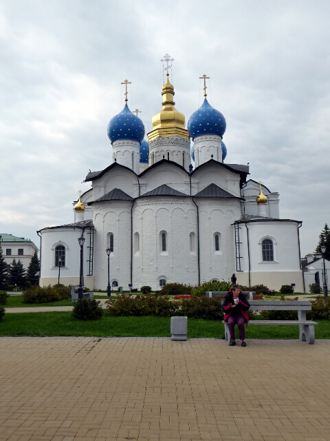 Kazan Kremlin Orthodox Church ofThe Kremlin's Kul Sharif Mosque,the biggest in Europe opened in 2005 the Annunciation 1562, restored 2005