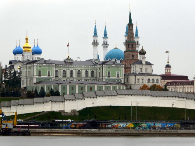 World Heritage Kazan Kremlin (Fort) 16th c. with Mosque and Orthodox Church